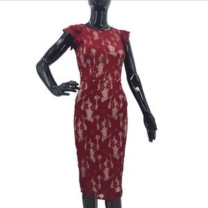 ➡️Host Pick⬅️ XOXO Red Crochet Floral Dress Small